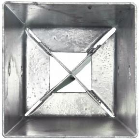 1 Einschlagbodenhülse für 70mm Pfosten Tiefe 900mm, 2mm stark