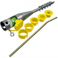 1 GAH Einschraub-Bodenhülse für Rohre mit 25 - 65 mm Ø - 560mm lang