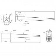 1 GAH Einschlagbodenhülse feuerverzinkt für Ø 80mm runde Pfosten Tiefe 600mm