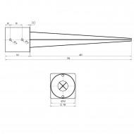 1 GAH Einschlagbodenhülse feuerverzinkt für Ø 140mm runde Pfosten Tiefe 750mm