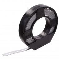 1 Lochband in Kunststoff Abrollbox verzinkt 17x0,75 á 10m