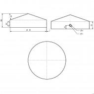 10 GAH Pfostenkappen rund, Ø 100mm, Stahl feuerverzinkt