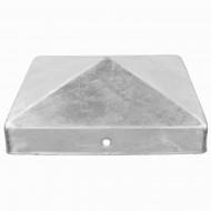 1 GAH Pfostenkappe flach Stahl feuerverzinkt 120x120 mm