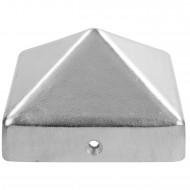 1 GAH Pfostenkappe hohe Form Aluminiumguss blank 71x71 mm