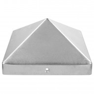 1 GAH Pfostenkappe hohe Form Aluminiumguss blank 121x121 mm
