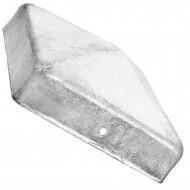 1 Pfostenkappe flach Edelstahl A2 91x91 mm