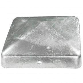 1 Pfostenkappe flach Stahl feuerverzinkt 100x100 mm