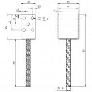 1 GAH U-Pfostenträger mit Riffeldolle feuerverzinkt 80x200 mm