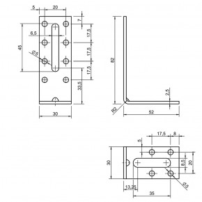 20 Euro-Winkel mit Langloch zugelassen ETA-09/0355 80x50x30x2,5