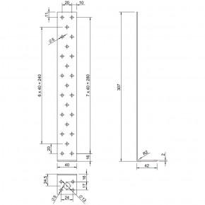 5 Betonflachstahlanker zugelassen ETA-08/0259 feuerverzinkt 300x40x40x2