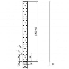 10 Rundholzverbinder verzinkt 700x55x1,5