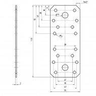 1 GAH Flachverbinder Edelstahl 135 x 55 x 2mm