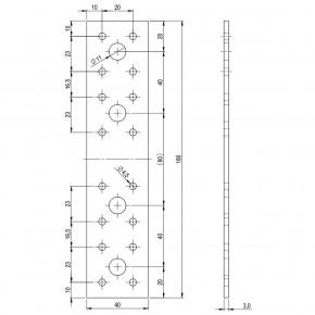 50 Standard Flachverbinder feuerverzinkt 180x40x3,0