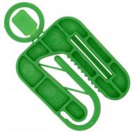 50 Twisto-Click Distanzplatten grün 50x60x5