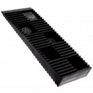 200 Befestigungskeile, normale Tragfähigkeit, schwarz 80 x 30 x 10 mm