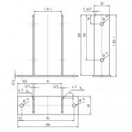 1 GAH U-Pfostenträger aufdübelbar Stahl feuerverzinkt, 4x50-60 mm für 90 mm