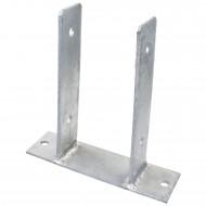 1 GAH U-Pfostenträger aufdübelbar Stahl feuerverzinkt, 4x50-60mm für 95mm