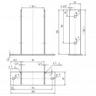 1 GAH U-Pfostenträger aufdübelbar Stahl feuerverzinkt, 4x50-60 mm für 100 mm
