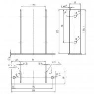 1 GAH U-Pfostenträger aufdübelbar Stahl feuerverzinkt, 4x50-60mm für 110mm