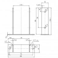 1 GAH U-Pfostenträger aufdübelbar Stahl feuerverzinkt, 4x50-60 mm für 120 mm