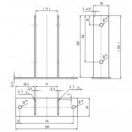 1 GAH U-Pfostenträger aufdübelbar Edelstahl , 4x50/60 mm für 70 mm