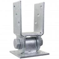 1 GAH U-Pfostenträger aufdübelbar beweglich Stahl feuerverzinkt, für 70mm