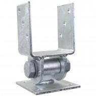 1 GAH U-Pfostenträger aufdübelbar beweglich Stahl feuerverzinkt, für 90mm