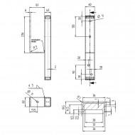 1 GAH U-Pfostenträger für Randsteine feuerverzinkt für 90mm