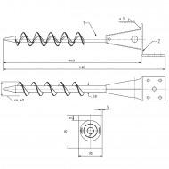 1 GAH L-Pfostenträger für Balken - 90mm, feuerverzinkt, zum Einschrauben 480mm