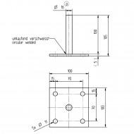 1 GAH I-Pfostenträger - feuerverzinkt - aufdübelbar