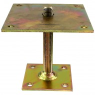 1 GAH I-Pfostenträger gelb verzinkt zum aufdübeln höhenverstellbar >=150 mm