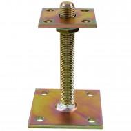 1 GAH I-Pfostenträger gelb verzinkt zum aufdübeln höhenverstellbar >=70 mm