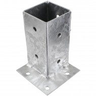 1 GAH Aufschraubhülse feuerverzinkt Eckbefestigung für 70 mm