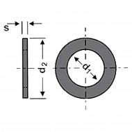 100 U-Scheiben DIN 125 Form B galvanisch verzinkt 23 mm für M22