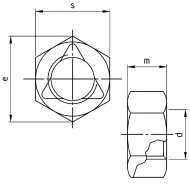 500 Sechskantmuttern M10 - mit Klemmteil - SW17 - Edelstahl A4 - DIN 980
