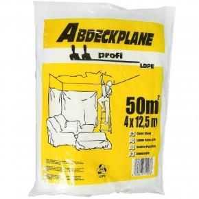 1 Abdeckplane, 4x12,5m , LDPE transparent , 18my  -Profi-