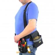 1 Allit Premium Werkzeuggürtel mit Taschen und Gürtelsicherung - schwarz-silber
