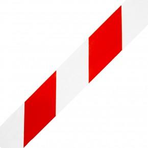 1 Rolle Gerband 404 Klebeband Warnband, rot / weiß , 60 mm, 66 m