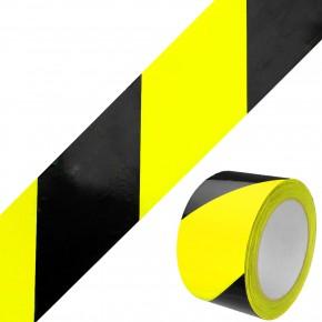 1 Rolle Gerband 404 Klebeband Warnband, gelb - schwarz, 60 mm, 66 m