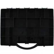 1 Sortimentskasten 355x250x55 18 Fächer schwarz
