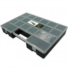 1 Sortimentskasten 355x255x56 mit 20 Fächern schwarz