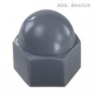 100 KORREX-Schutzkappen für M10 Sechskantmuttern - Kunststoff - grau