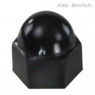 100 KORREX-Schutzkappen für M10 Sechskantmuttern - Kunststoff - schwarz