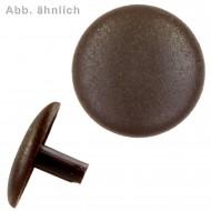 1000 Abdeckkappen m. Stift - Ø Kappen=15mm Ø Stift=2,5mm - dunkelbraun(RAL 8014)
