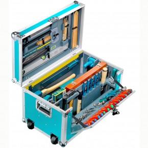 1 Werkzeugkiste Leichtbau, 184 tlg. Stabile Arbeitsbox, für grobe Holzarbeiten