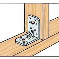 25 Winkelverbinder 105x105x90 , Dicke 3,0 mm, verzinkt, mit Steg / Rippe