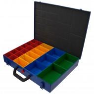 1 Stahlblech Sortimentskasten 440x330x66 mm mit 23 Fächern leer