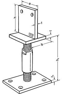 1 pfostentr ger typ t h henverstellbar 120 170mm ebay. Black Bedroom Furniture Sets. Home Design Ideas