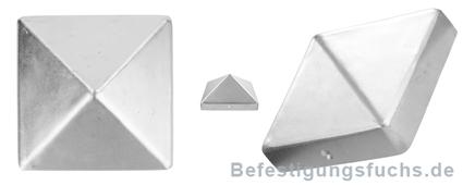 Pfostenkappe Aluminiumguss blank