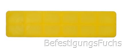 Glasklotz gelb